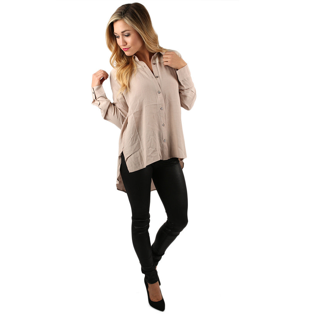 Free Falling Top in Beige