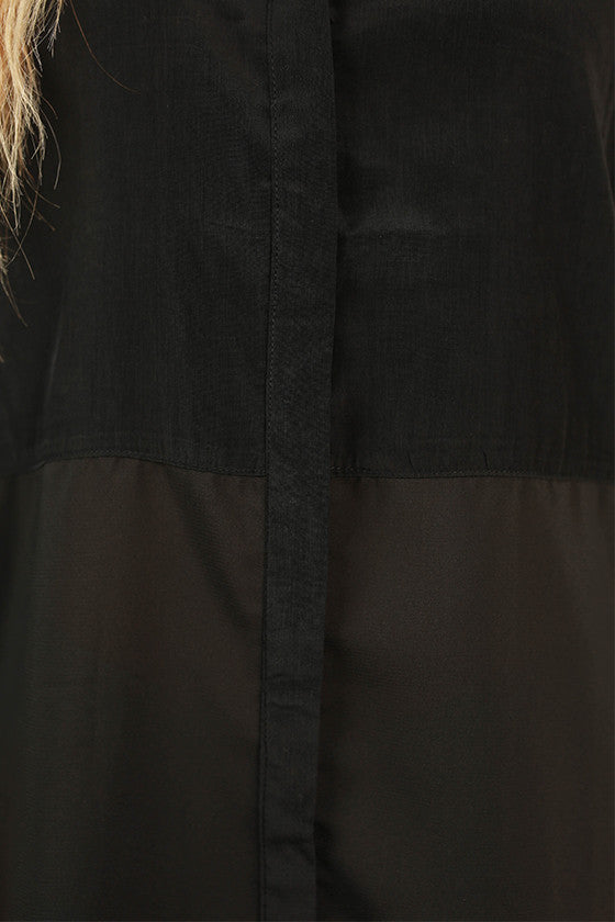 Modern Beauty Tunic in Black