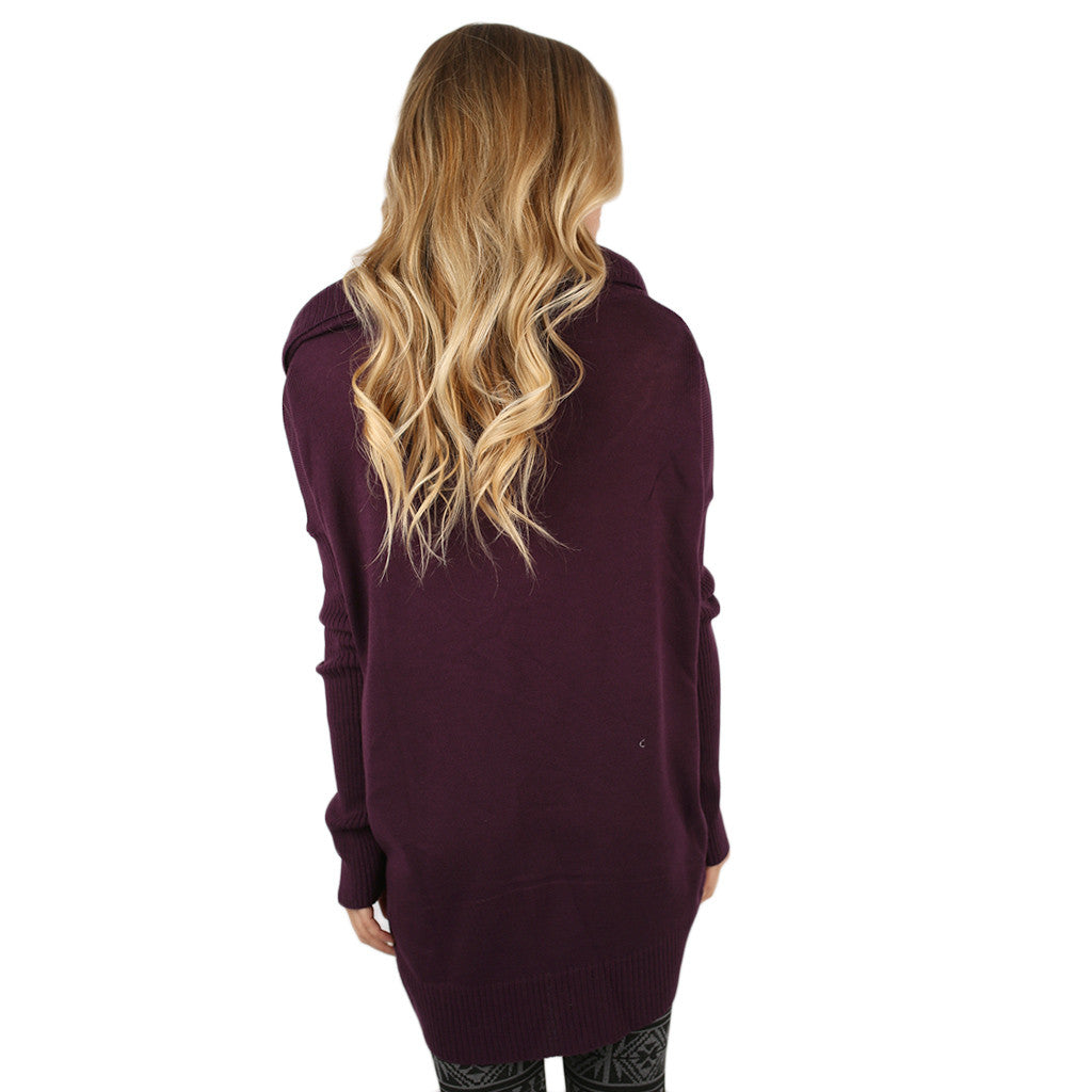 Home Is Where I'm With You Tunic Sweater Plum