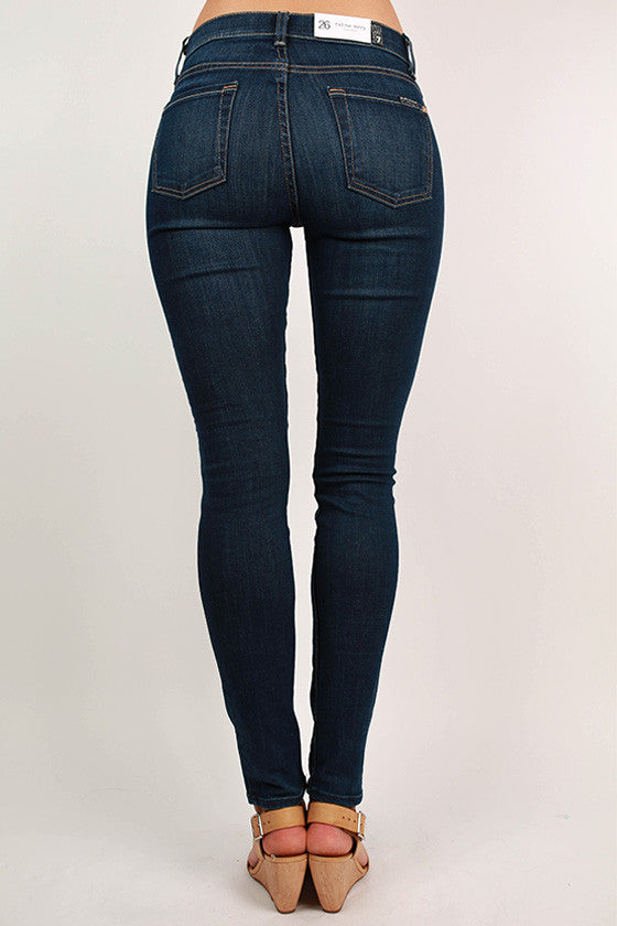 Mid Rise Skinny Medium Blue