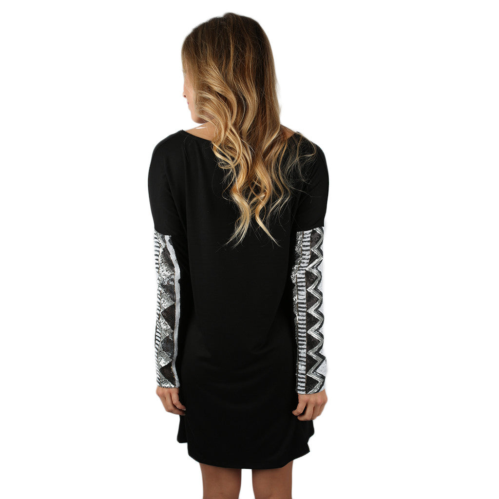 Sequin Devotion Dress Black