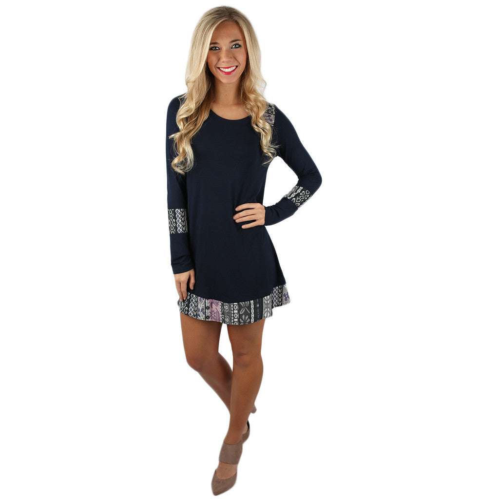 Baby Doll Enticement Dress Navy
