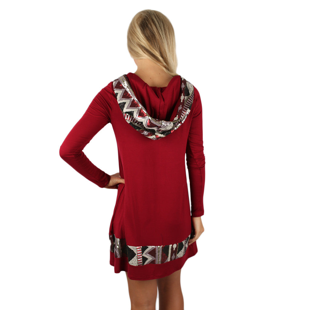 Keep on Sparkling Tunic in Burgundy