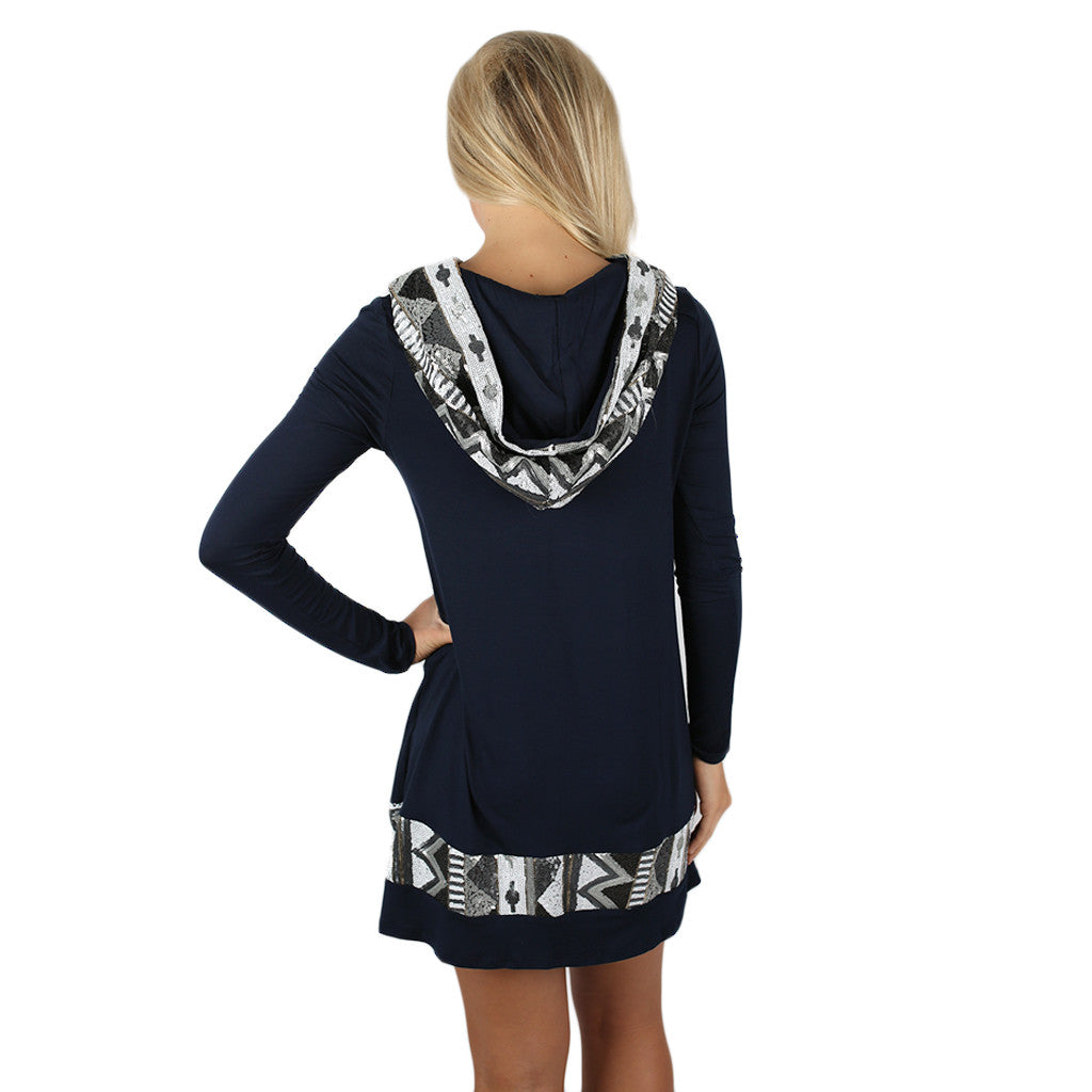 Keep on Sparkling Tunic in Navy