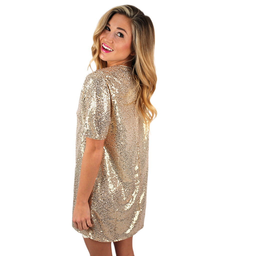 Sequins in The City Shift Dress