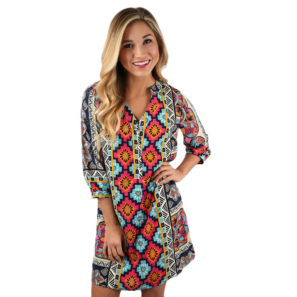 Style Starlet Tunic Dress in Pink
