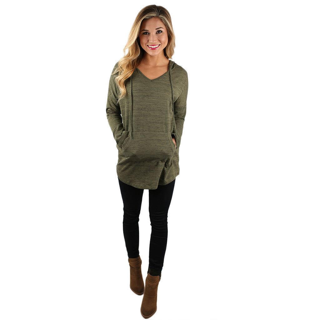 Cozy As Can Be Hoodie in Olive