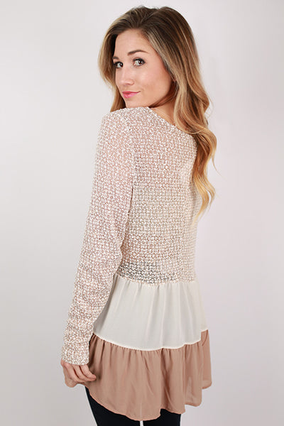 Lola Grace Top In Taupe Impressions Online Women S