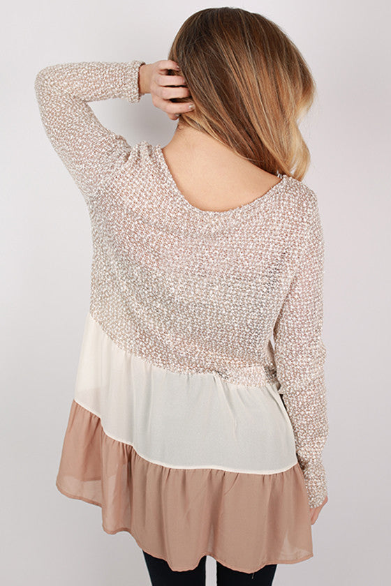 Lola Grace Top in Taupe