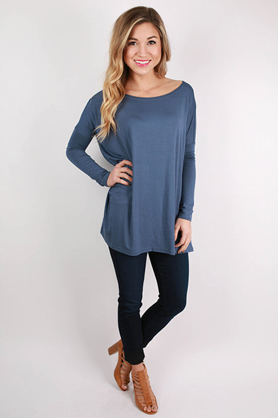 PIKO Long Sleeve Tee in Navy