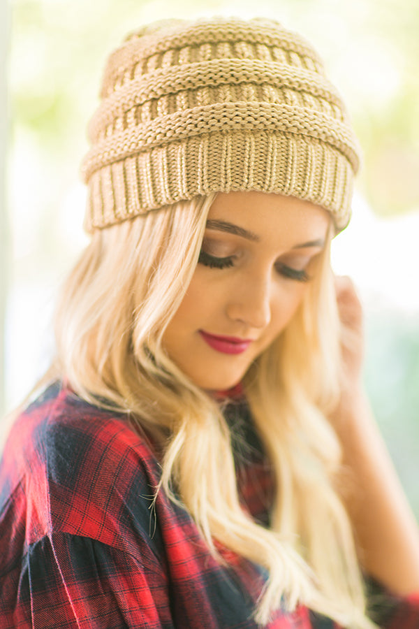 Beanie Beautiful in Camel
