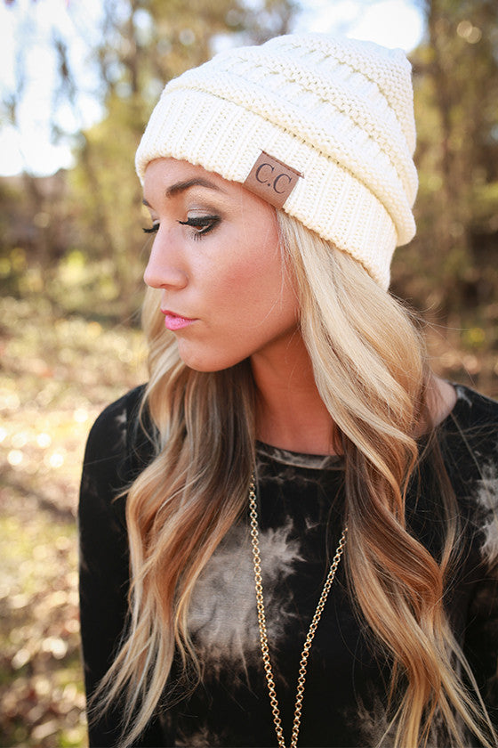 Beanie Beautiful in Ivory