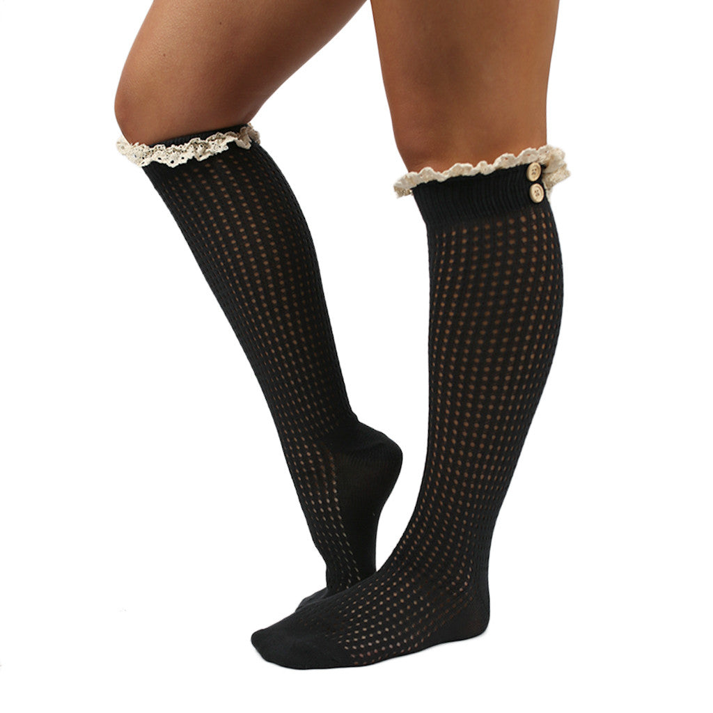 Rocky Mountain Ruffle Sock Charcoal