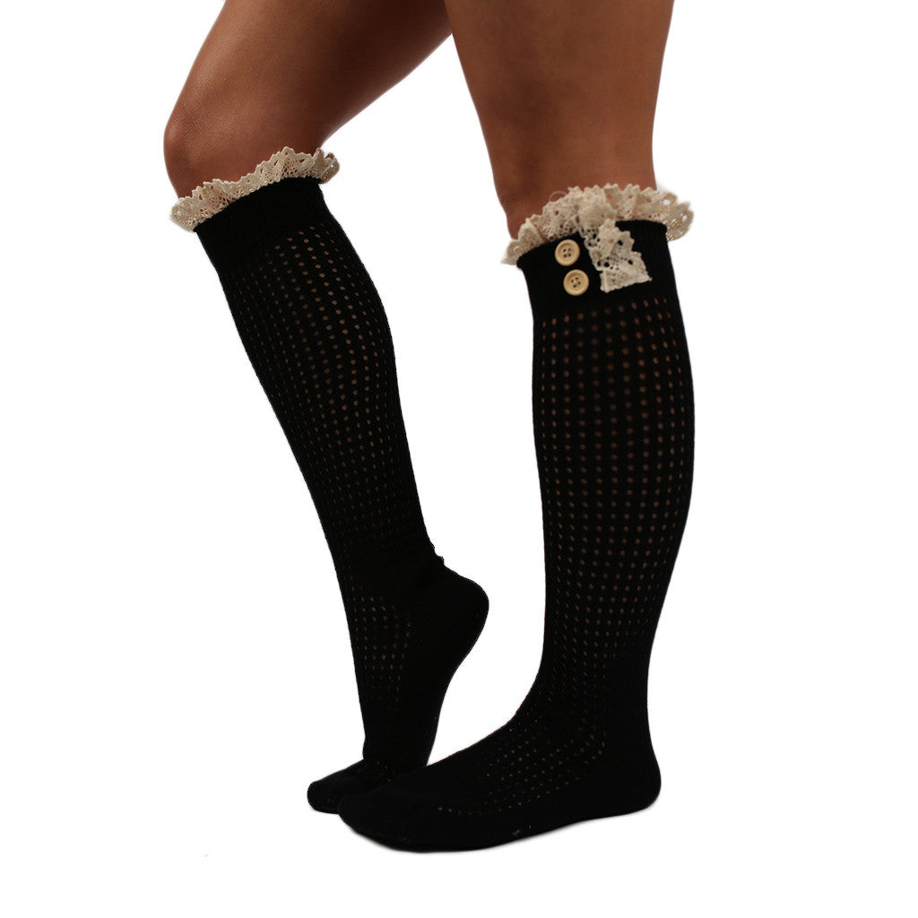 Rocky Mountain Ruffle Sock Black