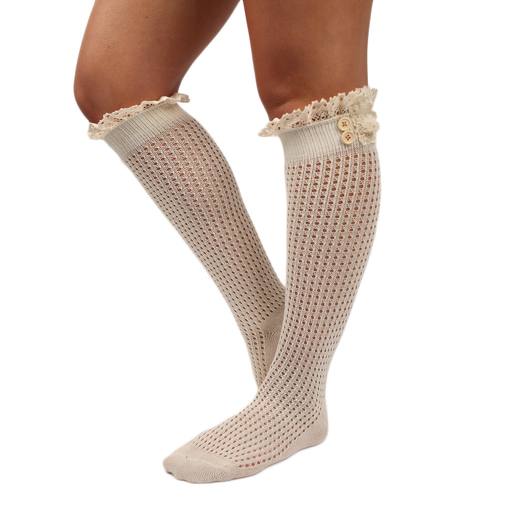 Rocky Mountain Ruffle Sock Ivory