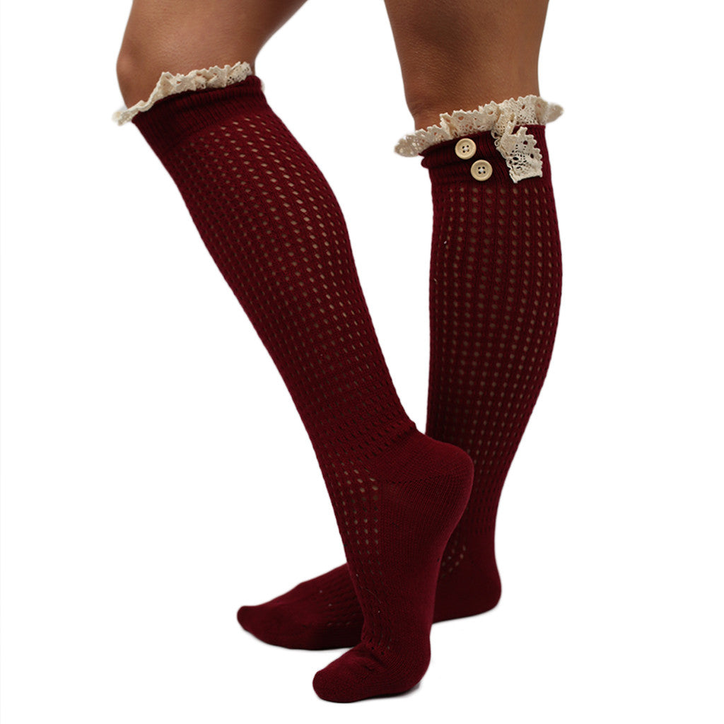 Rocky Mountain Ruffle Sock Burgundy