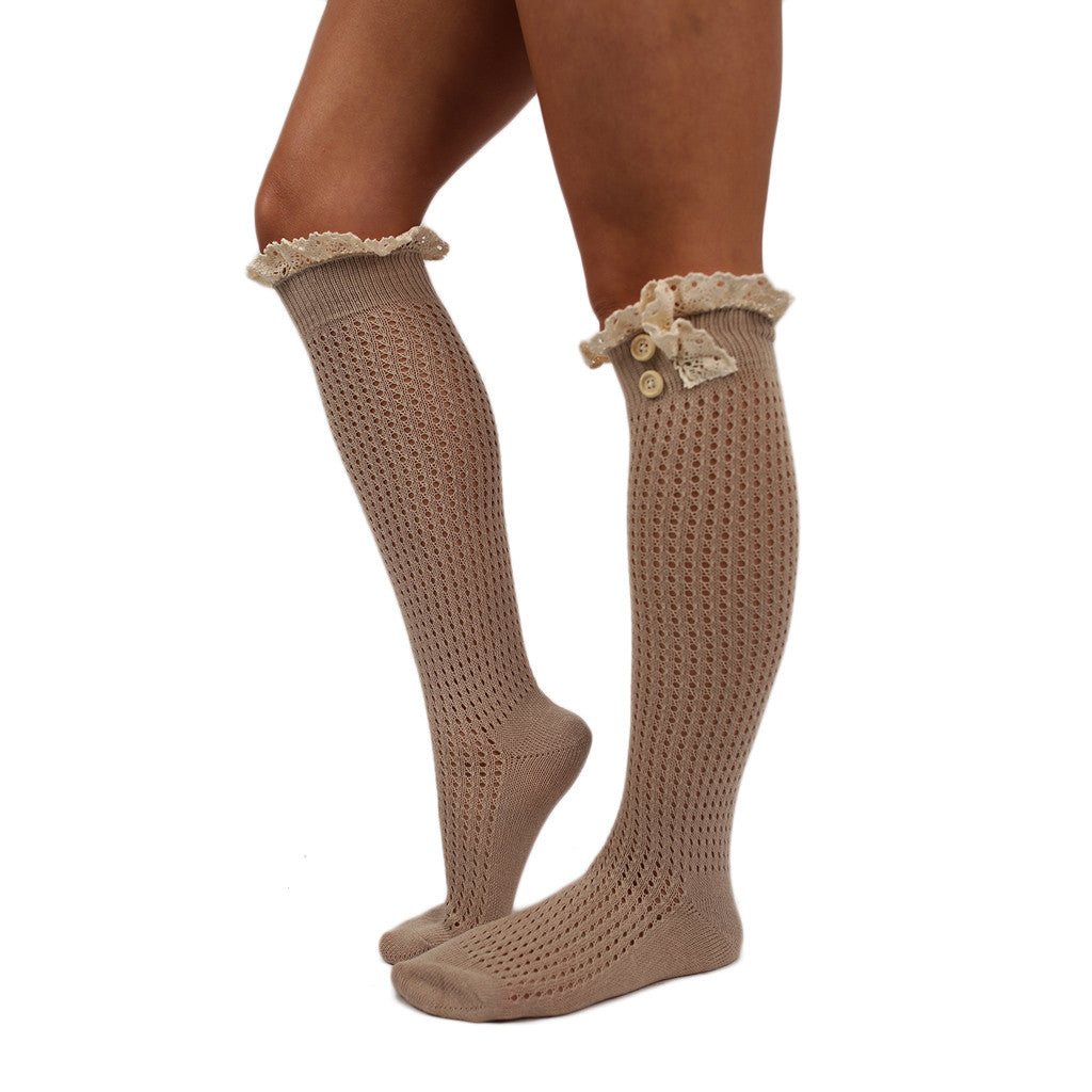 Rocky Mountain Ruffle Sock Beige