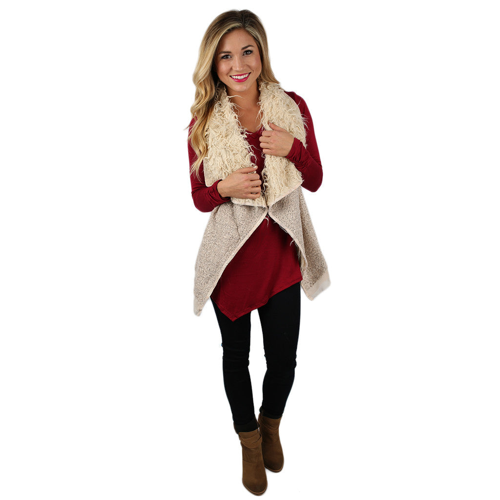 Staying Cozy Vest Cream