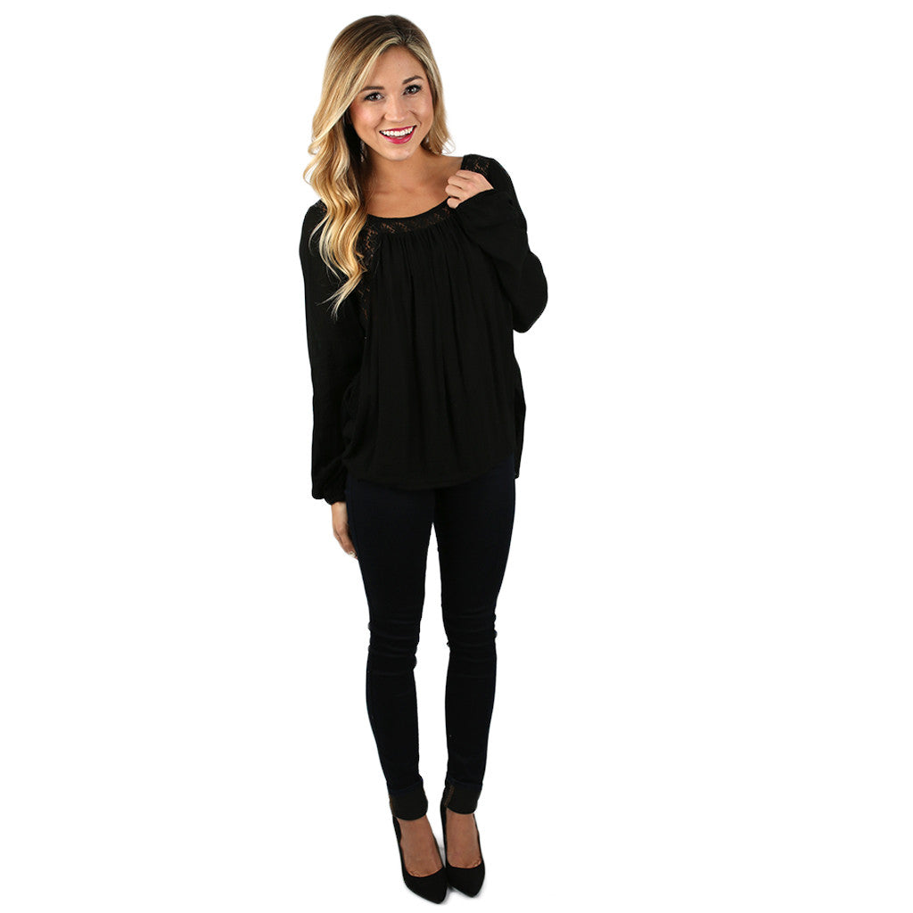 Tres Chic Top in Black
