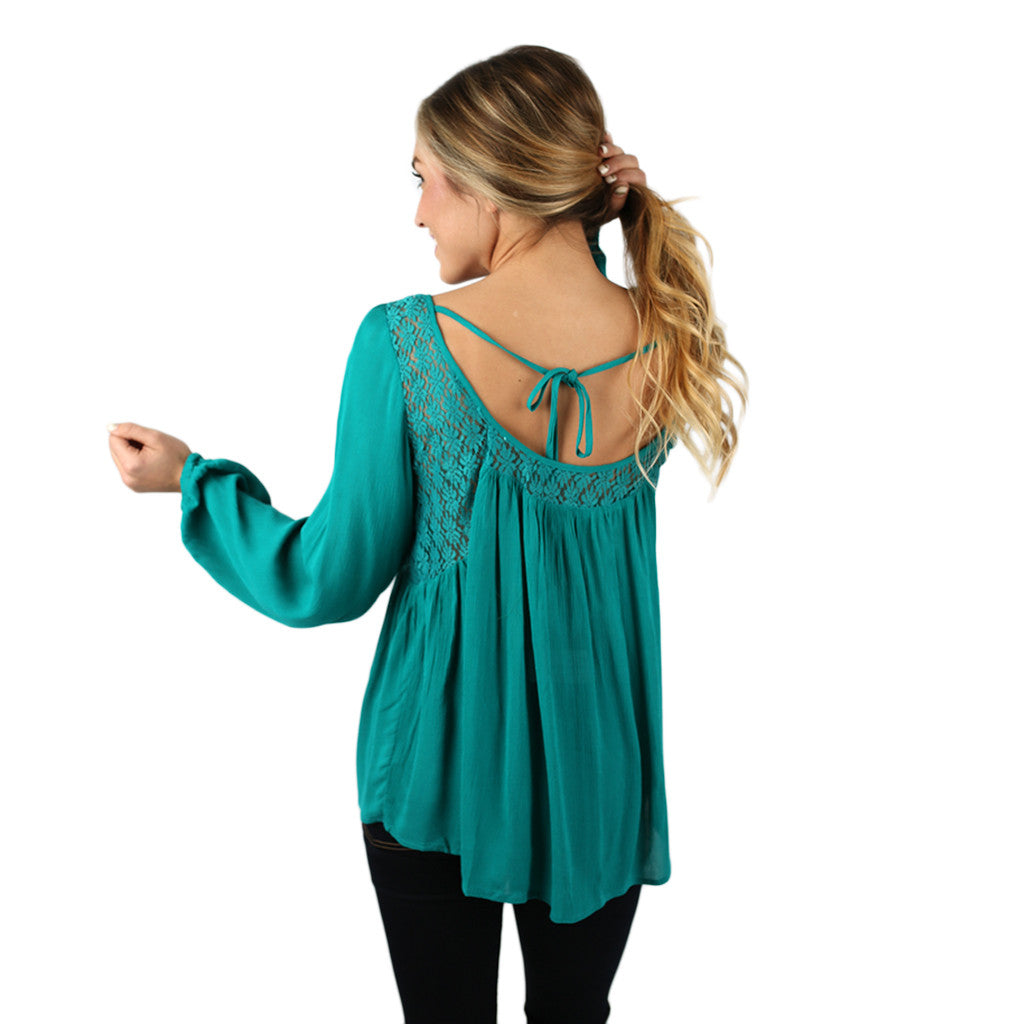 Tres Chic Top in Jade