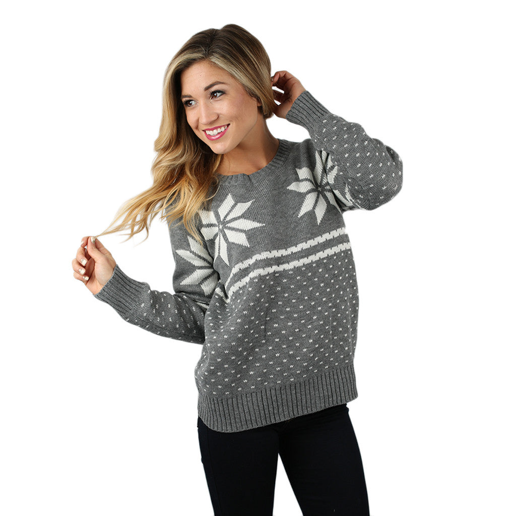 First Flurries Sweater in Grey