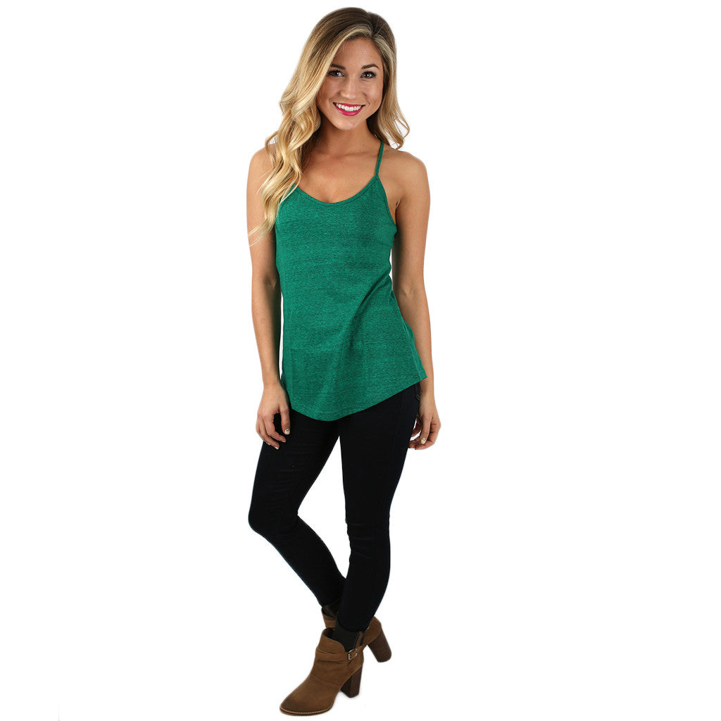 The Heather Cami in Emerald