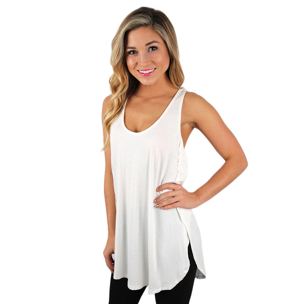 The Perfect Fit Tank Ivory