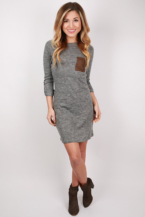 The Heather Dress in Grey