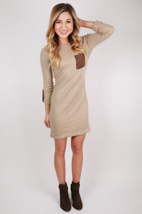 The Heather Dress in Taupe