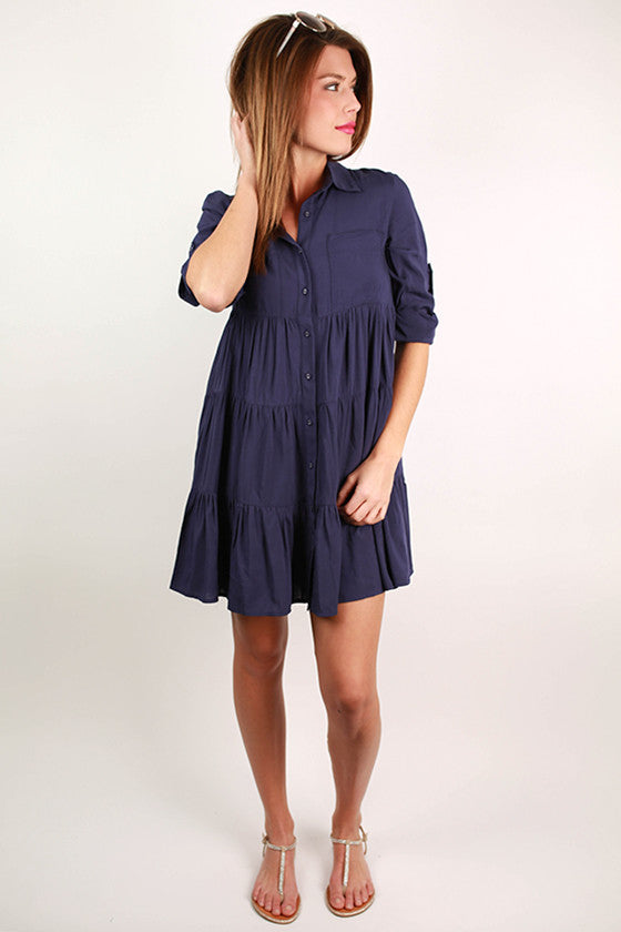 Dreams Do Come True Dress Navy