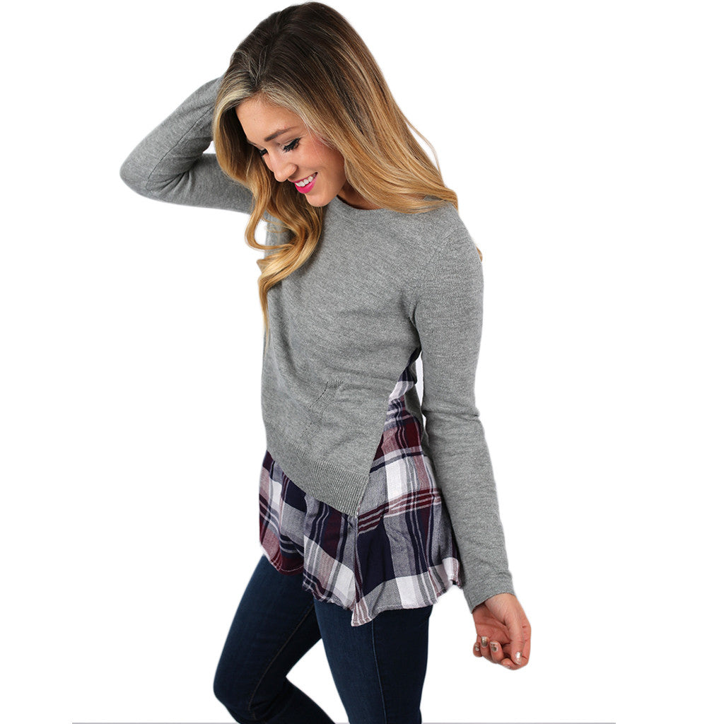 Blissful Plaid Sweater