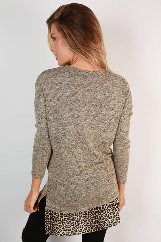 Cozy & Chic Sweater Top in Taupe