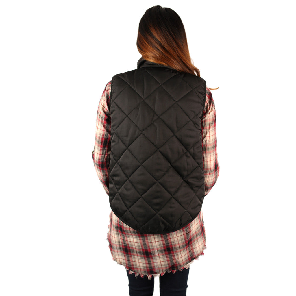 Perfectly Pretty Puff Vest Black