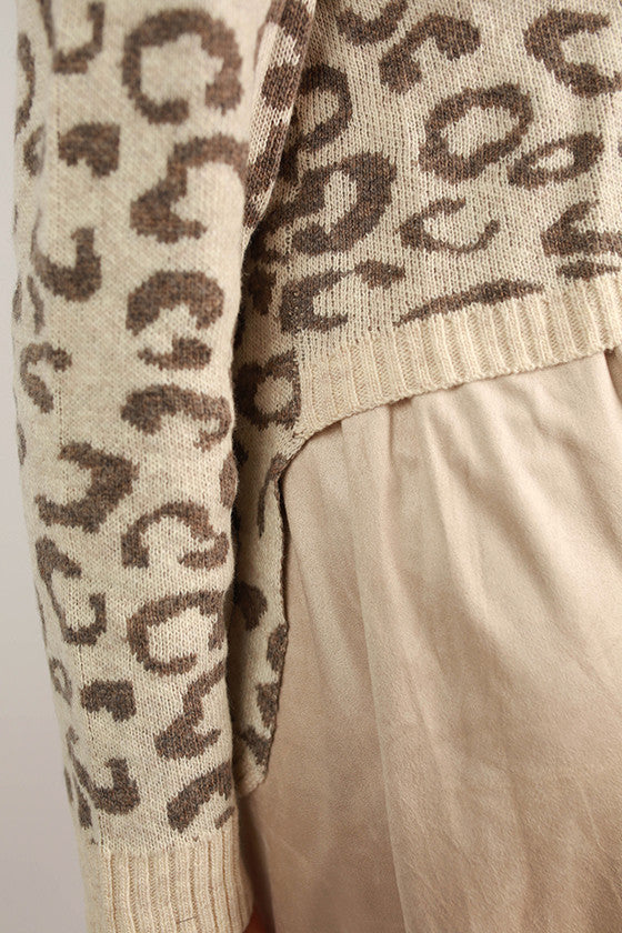 Lola Leopard Dress in Taupe