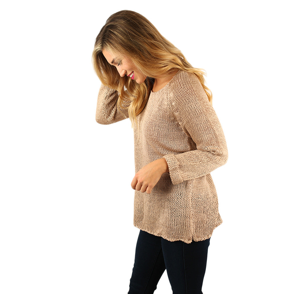 Cozy in the City Sweater Taupe
