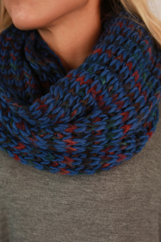 Ever The Stylish Sweater Infinity Scarf Blue