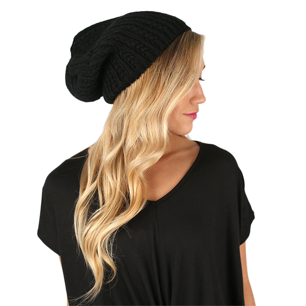 The More The Merrier Sweater Beanie Black