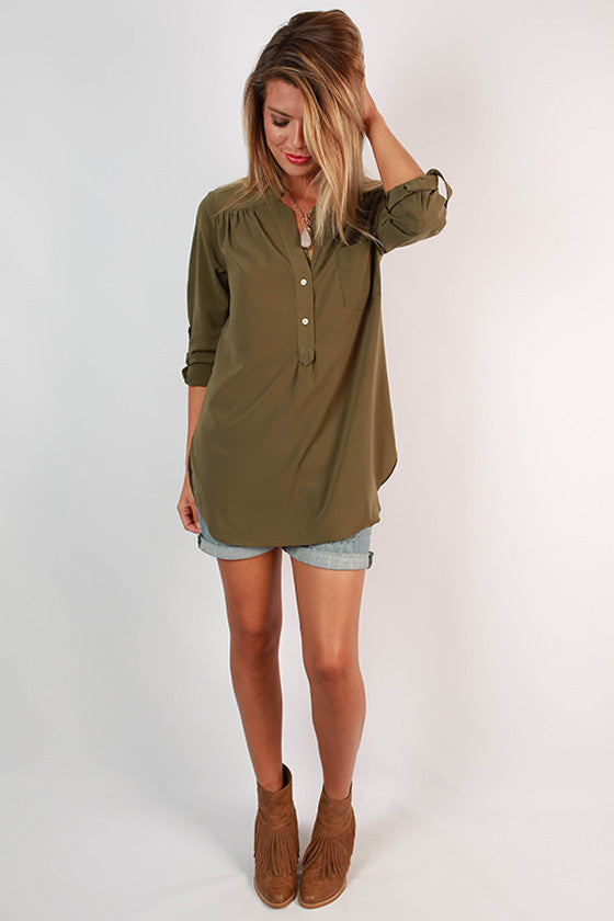 Get The Hint Top in Olive