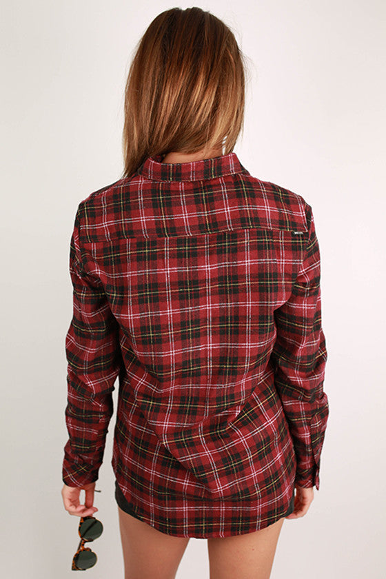 Cozy Comfort Unisex Flannel in Wine