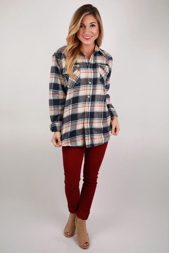 Cozy Comfort Unisex Flannel in Navy