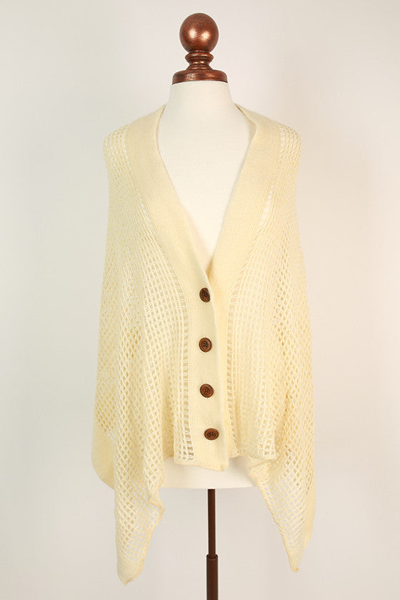 Button Up Beauty Scarf Ivory