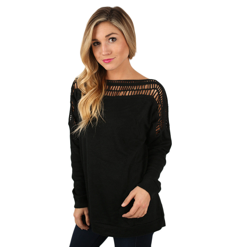 First Date Charmer Top in Black