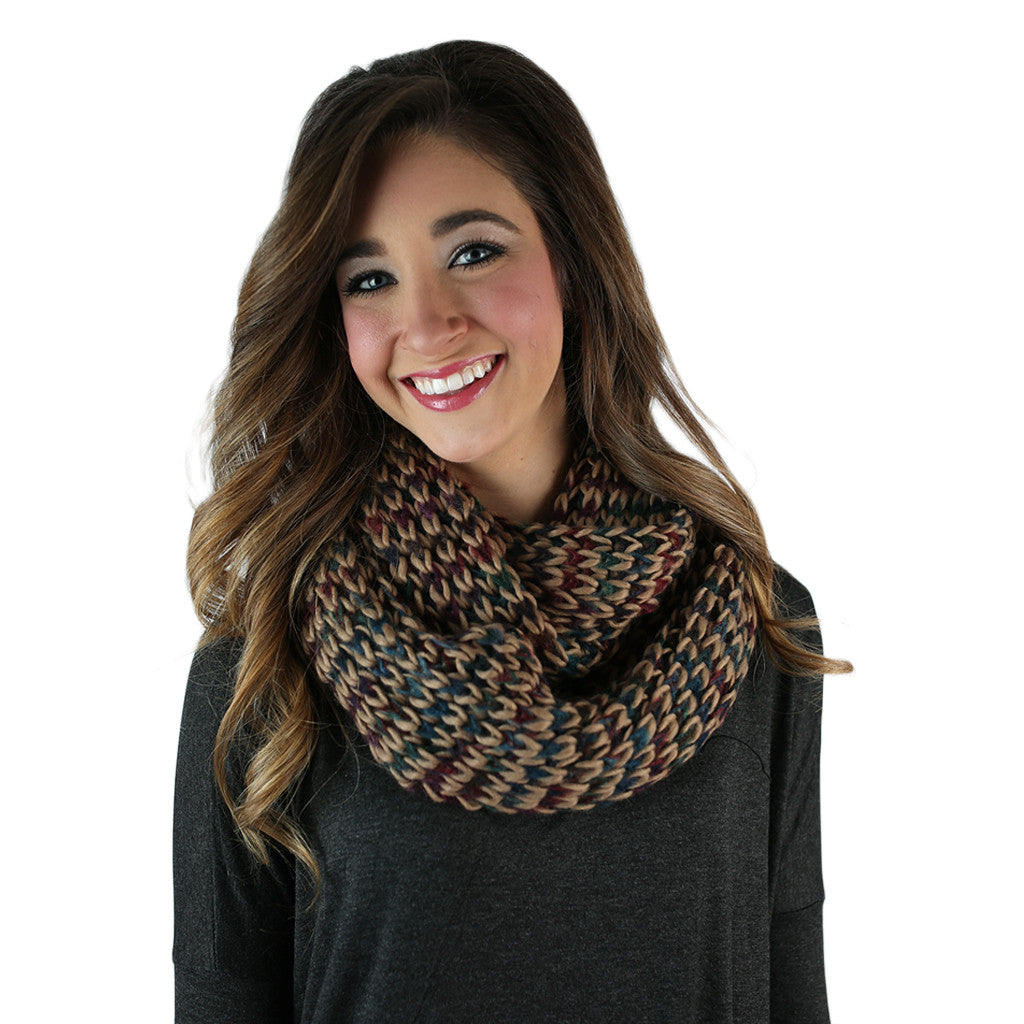 Ever the Stylish Sweater Infinity Scarf Beige