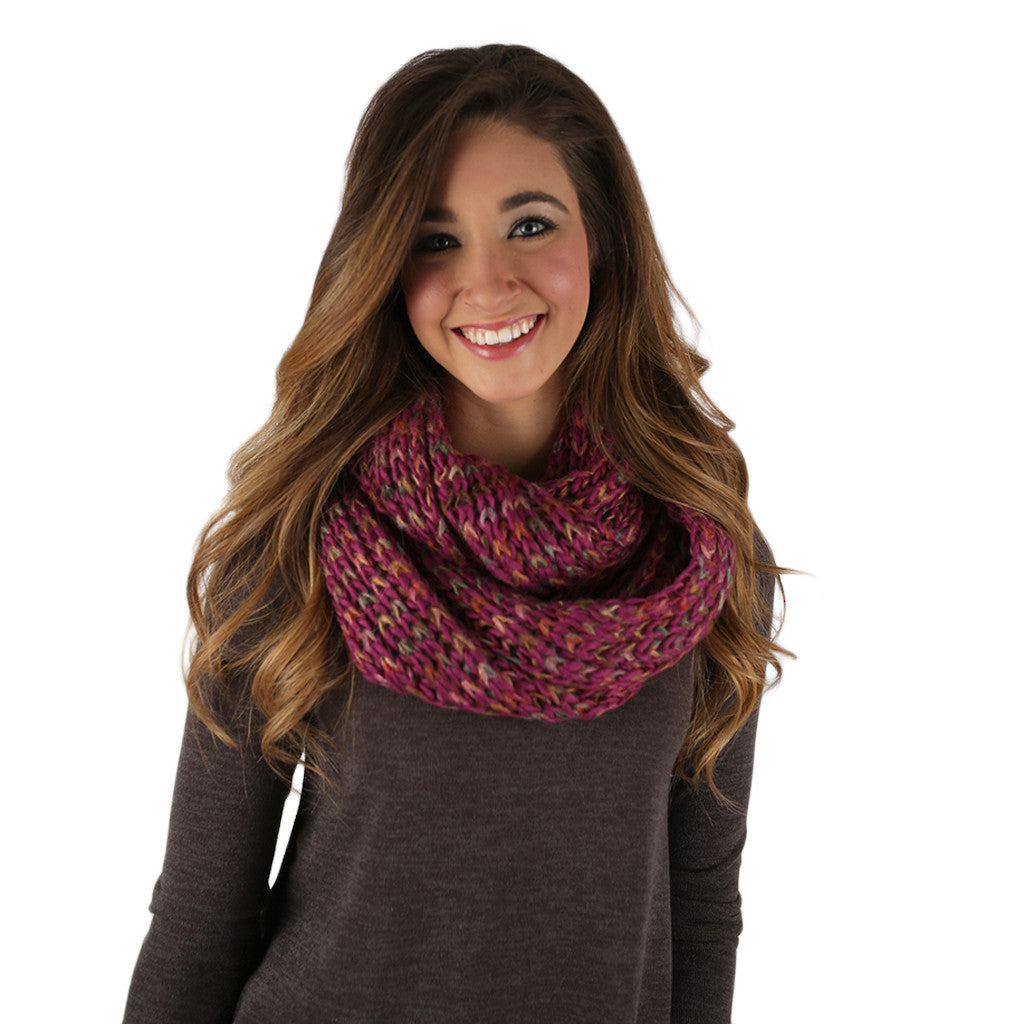 Ever the Stylish Sweater Infinity Scarf Magenta