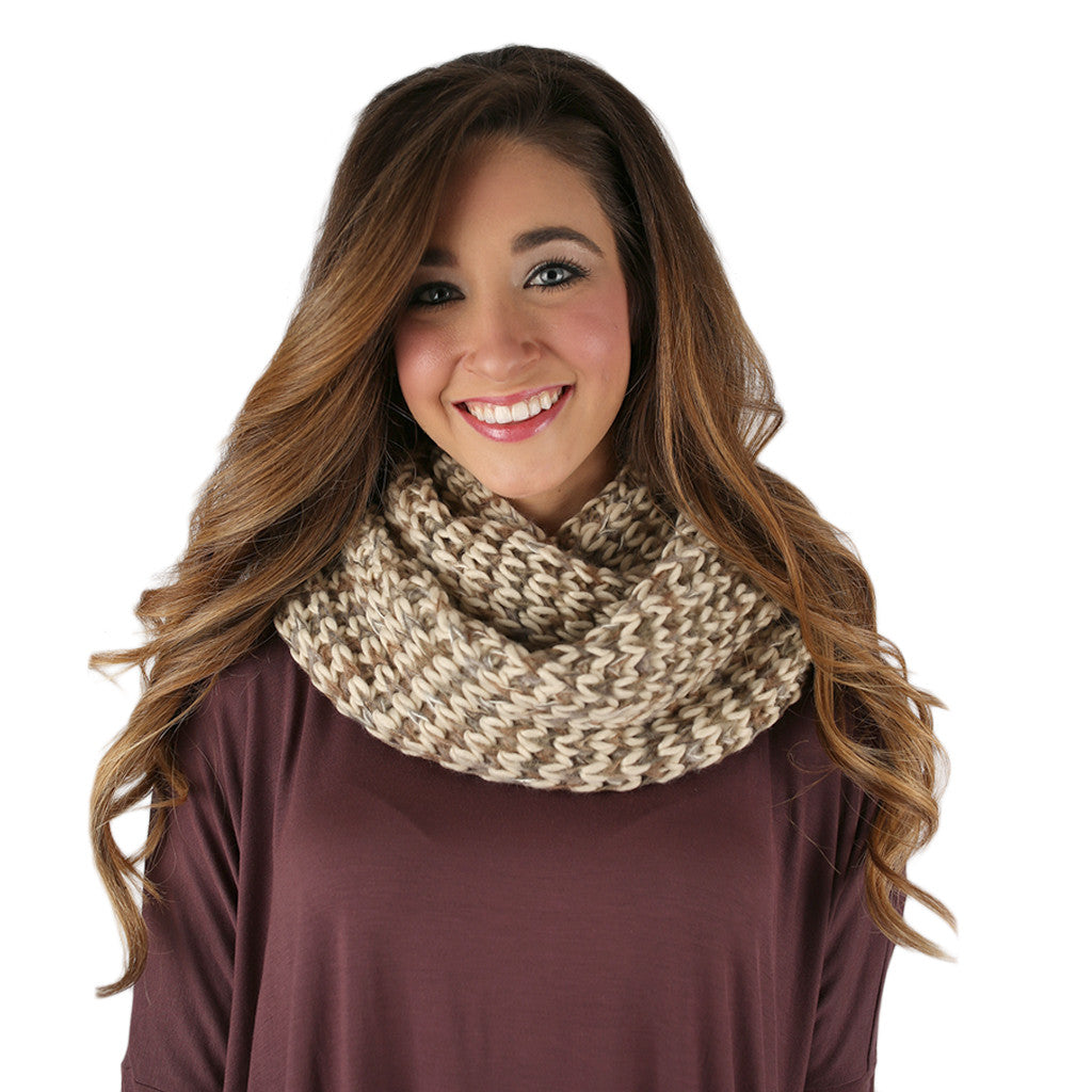 Ever the Stylish Sweater Infinity Scarf Taupe