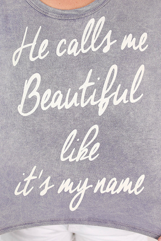 Beautiful Is My Name Crop Top