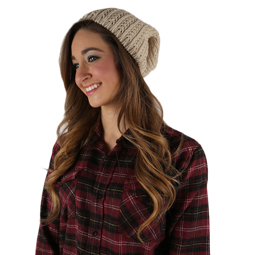 The More The Merrier Sweater Beanie Ivory