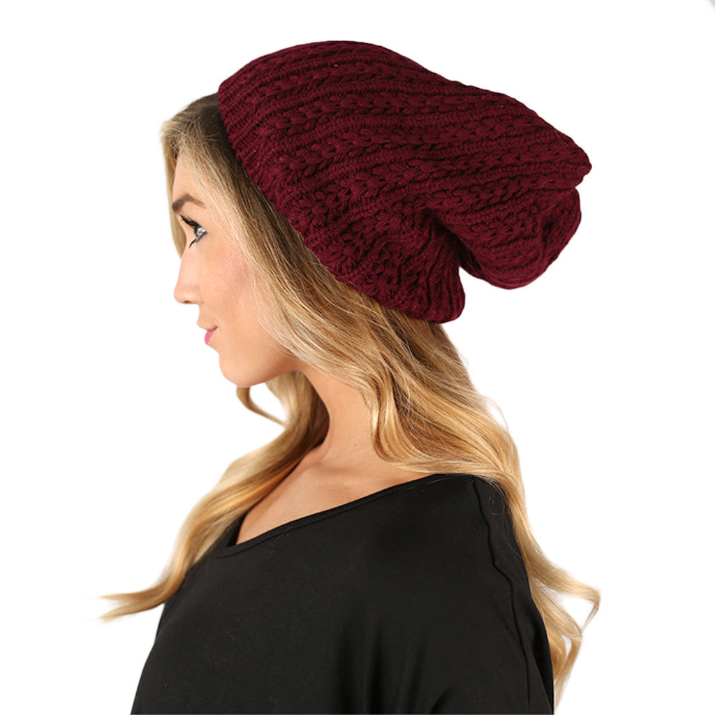 The More The Merrier Sweater Beanie Wine