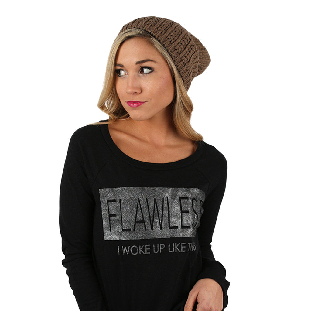 The More The Merrier Sweater Beanie Mocha