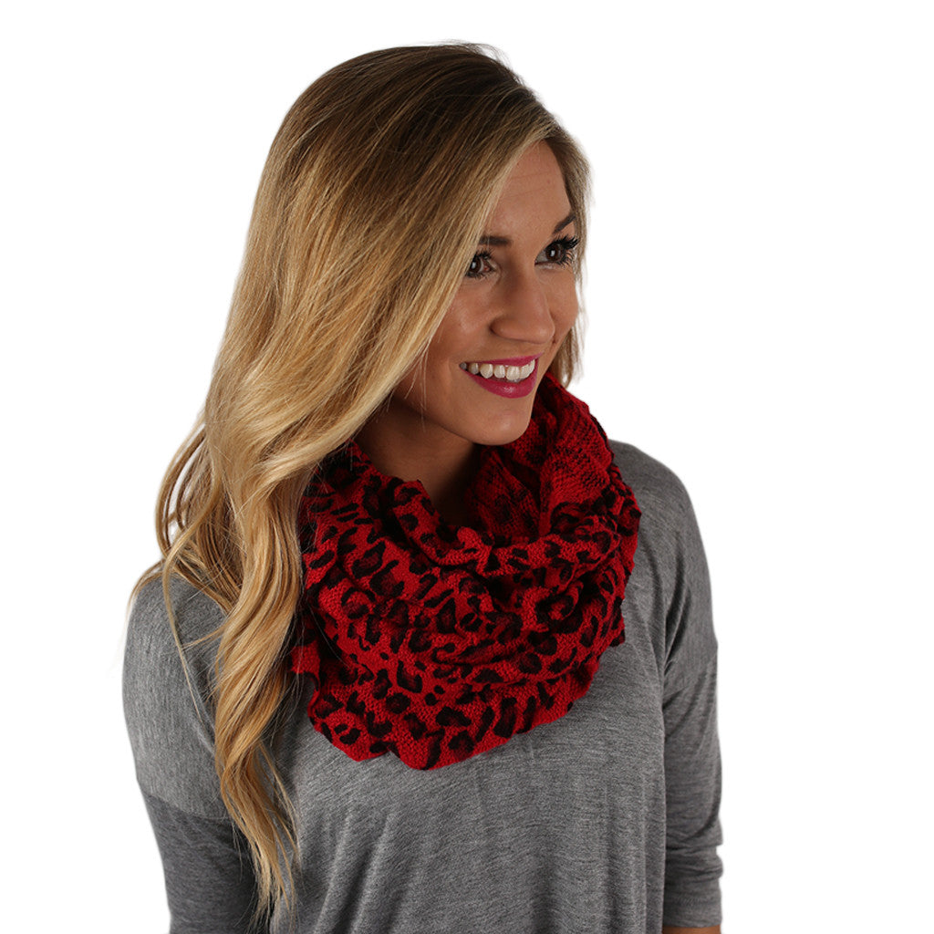 Hot Cocoa Nights Infinity Scarf Red